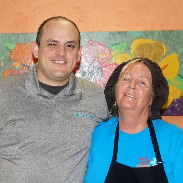 Shane & Nora at the Creative Cafe in Casa Grande, AZ