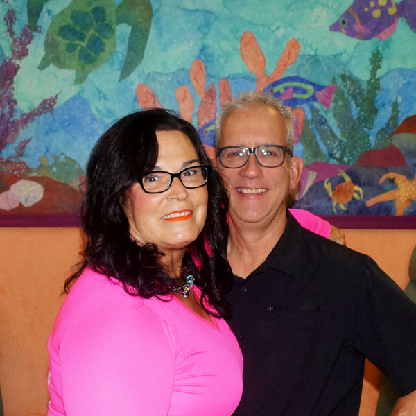 Tesa and Jim at the Creative Cafe in Casa Grande, AZ