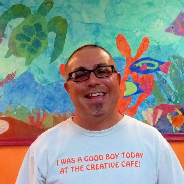 Steve at the Creative Cafe in Casa Grande, AZ
