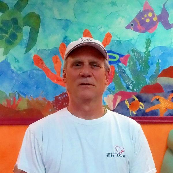 Bill at the Creative Cafe in Casa Grande, AZ
